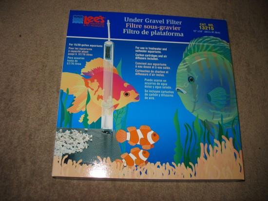 Ungegravel filter is good for a shrimp tank
